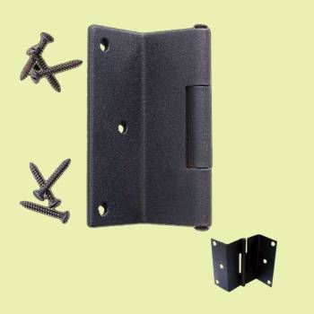 <PRE>Wrought Iron Shutter Hinge Black Rustproof Modern Style </PRE>zoom2
