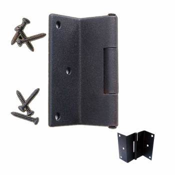 Wrought Iron Shutter Hinge Black Rustproof Modern Style 15920grid