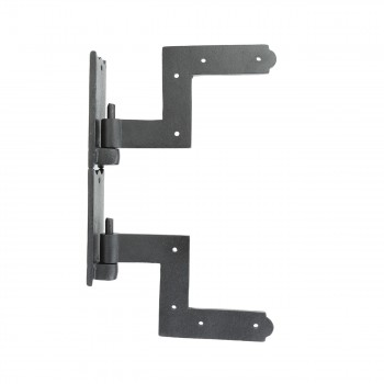 <PRE>Pair Shutter Hinge Wrought Iron 6inch H x 6 1/2&quot; W </PRE>zoom3