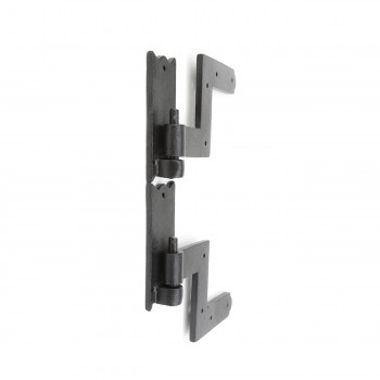 "<PRE>Pair Shutter Hinge Wrought Iron 6inch H x 6 1/2"" W </PRE>zoom4"