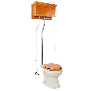 <PRE>High Tank Toilets Light Oak Raised Tank Elongated High Tank Toilet</PRE>zoom1