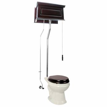 Dark Oak Pull Chain Toilet Biscuit Round Chrome 15943grid