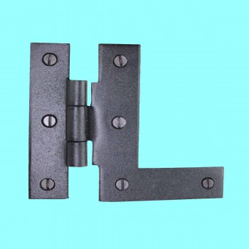 Door Hinges - Wrought Iron HL 3/8 Offset LEFT Hinge 3 1/2 in. H by the Renovator's Supply