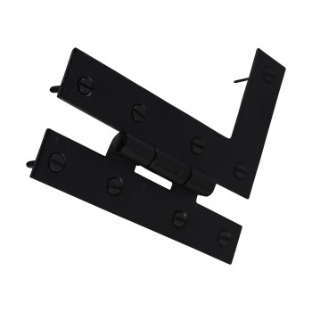 <PRE>H-L Flush Cabinet Hinge Black Wrought Left 4.5inchH </PRE>zoom2