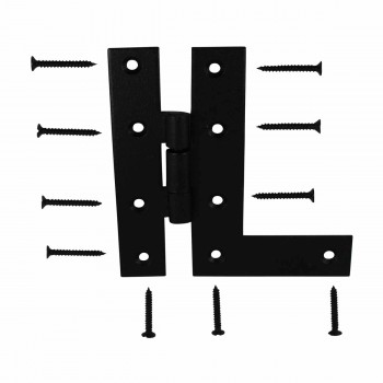 <PRE>H-L Flush Cabinet Hinge Black Wrought Left 4.5inchH </PRE>zoom3