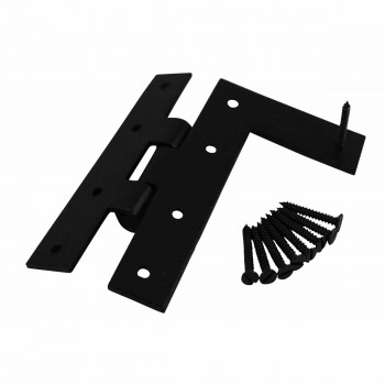 <PRE>H-L Flush Cabinet Hinge Black Wrought Left 4.5inchH </PRE>zoom4