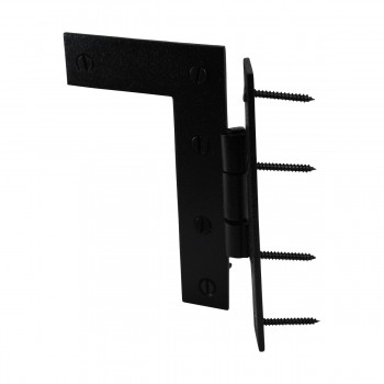 <PRE>H-L Flush Cabinet Hinge Black Wrought Left 4.5inchH </PRE>zoom12