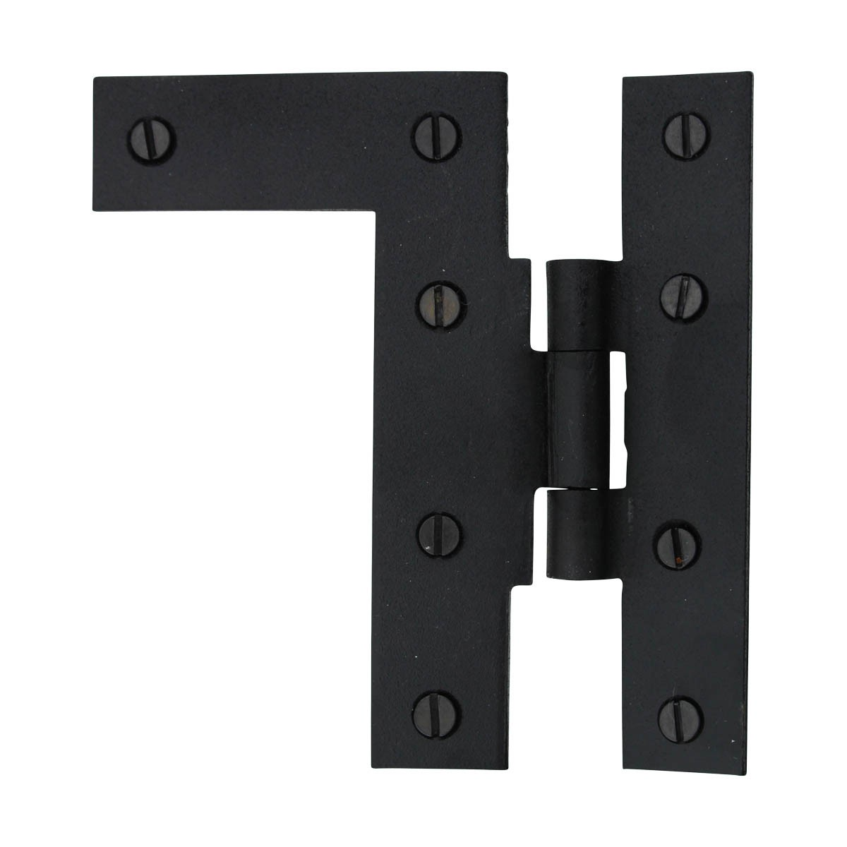 Offset HL Cabinet Hinge Black Iron Left 4.5H Wrought Iron Door Hinges Black Door Hinges Rustproof Cabinet Hinges