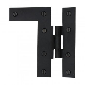 <PRE>Offset H-L Cabinet Hinge Black Iron Left 4.5inchH </PRE>zoom9