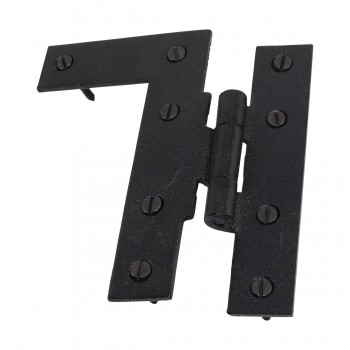 <PRE>Offset H-L Cabinet Hinge Black Iron Left 4.5inchH </PRE>zoom14