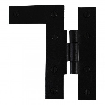 <PRE>Offset H-L Cabinet Hinge Black Iron Left 4.5inchH </PRE>zoom16
