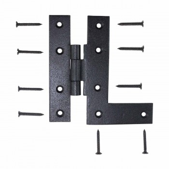 Offset H-L Cabinet Hinge Black Iron Left 4.5