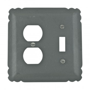 Switchplate Black Wrought Iron Toggle/Duplex 15970grid