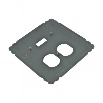 spec-<PRE>Switchplate Black Wrought Iron Toggle/Duplex </PRE>