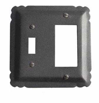 Switchplate Black Wrought Iron GFI/Toggle 5 1/4