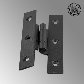 Door Hinges - H Offset Hinge Wrought Iron 3 1/2 H inch 3/8 offset by the Renovator's Supply
