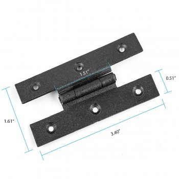 "spec-<PRE>Forged Iron Cabinet Hinge H Style  3.1/2"" H w/ Offset </PRE>"