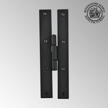 Door Hinges - H Hinge Flush  Wrought Iron 7 inch by the Renovator's Supply