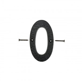 Number 0 House Number Black Wrought Iron 4H Mail Box Numbers Mailbox Numbers House Number