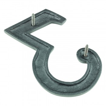 "<PRE>Number inch3"" House Number Black Wrought Iron 4""H </PRE>zoom5"
