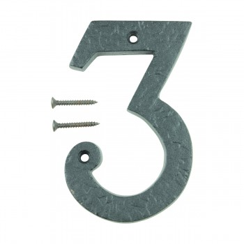 "<PRE>Number inch3"" House Number Black Wrought Iron 4""H </PRE>zoom6"