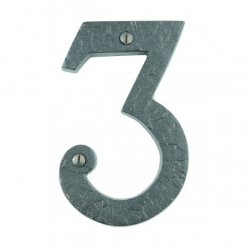 "<PRE>Number inch3"" House Number Black Wrought Iron 4""H </PRE>zoom8"