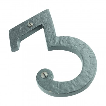 "<PRE>Number inch3"" House Number Black Wrought Iron 4""H </PRE>zoom9"