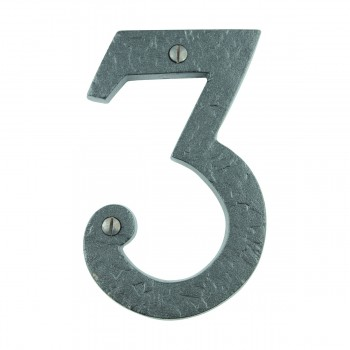 "<PRE>Number inch3"" House Number Black Wrought Iron 4""H </PRE>zoom1"