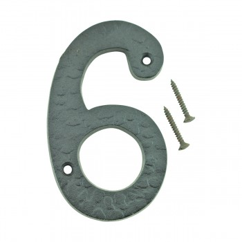 "<PRE>Number inch6"" or ""9"" House Number Black Wrought Iron 4""H </PRE>zoom1"