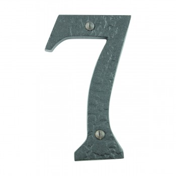 Number 7 House Number Black Wrought Iron 4H