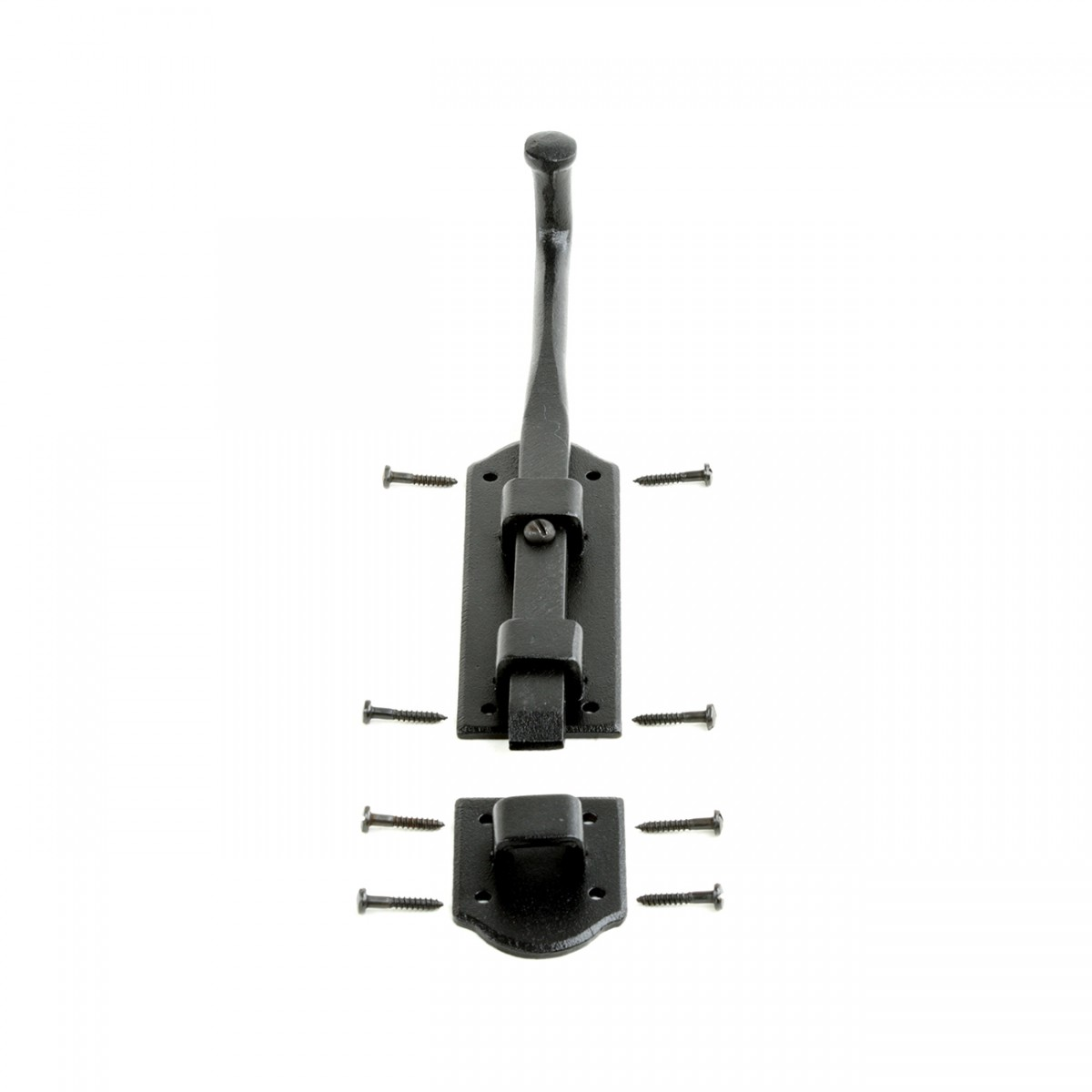 Black Wrought Iron Tower Door Slide Bolt 9 W Black Slide Bolt Slide Lock For Door Wrought Iron Slide Latch Lock