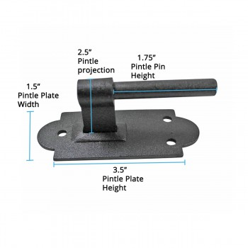 spec-<PRE>Iron Hinges Black Pintle Hinge Strap Shutter Hinge Offset 1.875 Inch</PRE>