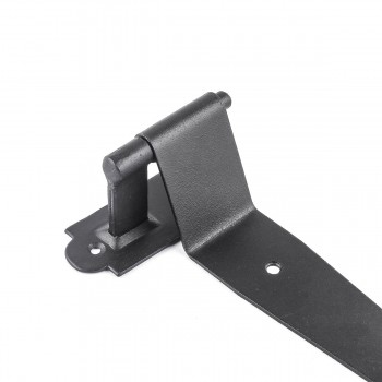 <PRE>Pintle Hinge Strap For Doors And Gates Black Iron Shutter Hinge Offset 2 Inch </PRE>zoom12