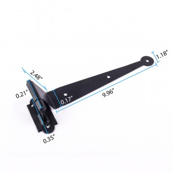 spec-<PRE>Pintle Hinge Strap For Doors And Gates Black Iron Shutter Hinge Offset 2 Inch </PRE>