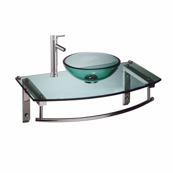 <PRE>Sinks Green Glass/Chrome Boston Wall Mount Vessel W/ Faucet</PRE>zoom1