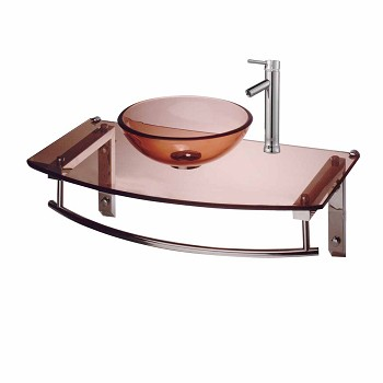 <PRE>Console Sinks Zinfandel Glass/Chrome Wall Mount Console W/ Faucet</PRE>zoom1