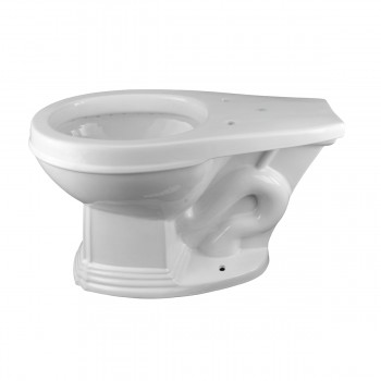 Cherry High Tank Pull Chain Toilet with White Round Bowl and Chrome Rear Entry High Tank Pull Chain Toilets Round Bowl High Tank Toilet Old Fashioned Toilet