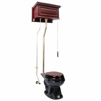 <PRE>Cherry High Tank L-Pipe Toilet Round Black Bowl </PRE>zoom1