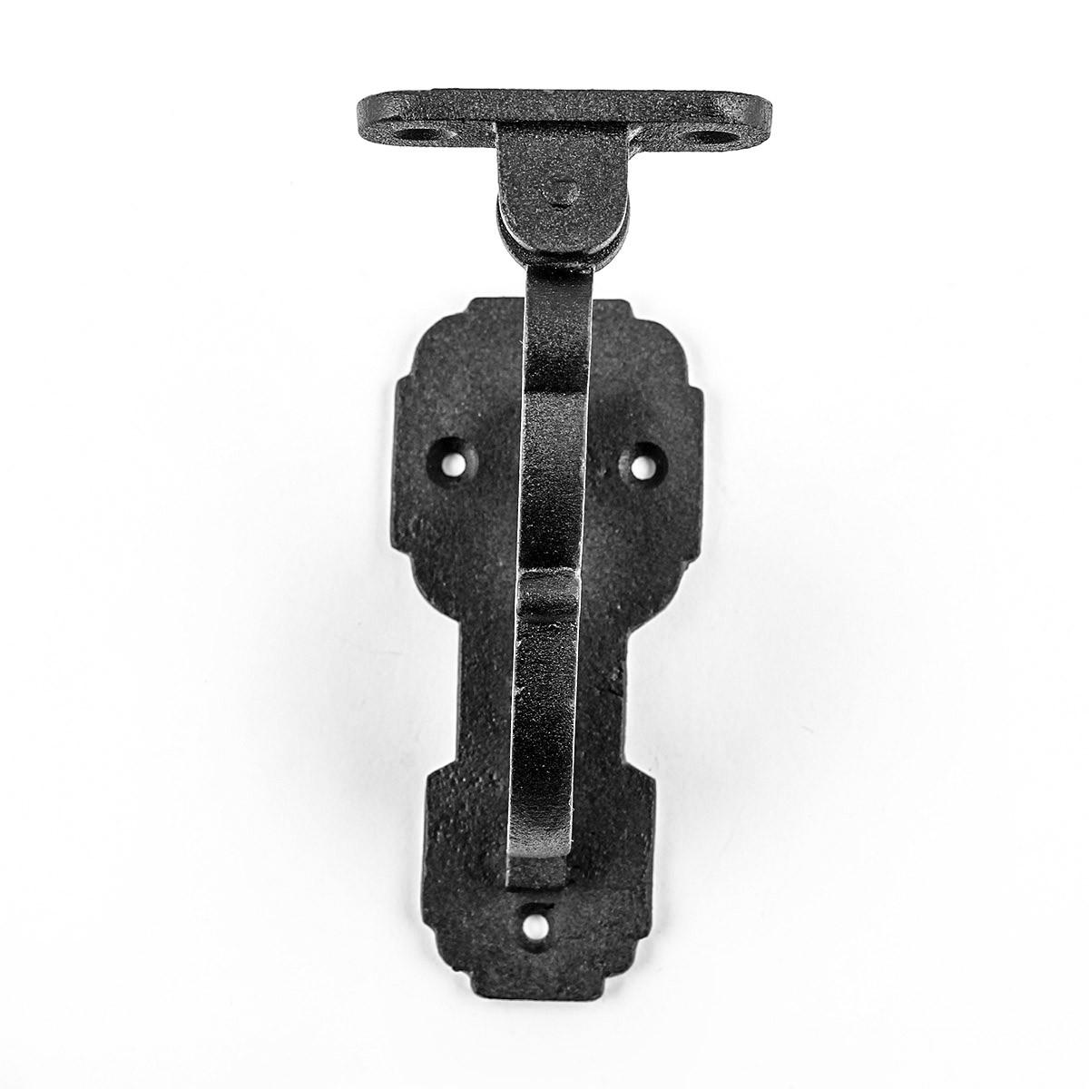 Black RSF Iron Hand Rail Bracket Rust Resistant Finish Wrought Iron Handrail Bracket Handrail Bracket Black Staircase Handrail Bracket