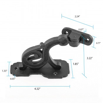 spec-<PRE>Black RSF Iron Hand Rail Bracket Rust Resistant Finish </PRE>