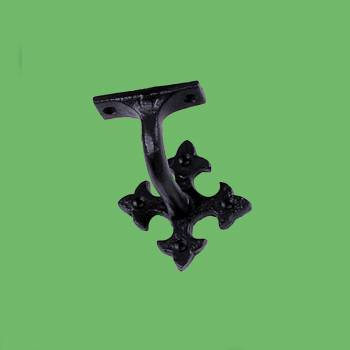 spec-<PRE>Stair Hand Rail Bracket Black Cast  </PRE>