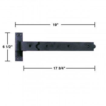 spec-<PRE>Strap Black Wrought Iron Gate 3/4&quot; Offset Hinge Black Wrought Iron 19 in. W</PRE>