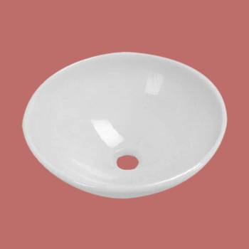 Glass Vessel Sink Milk White Round - Glass sinks, Glass sink info & unique Glass accessories, quantity discounts on Glass sinks, Glass pedestal sinks, Glass wall mount sinks, Glass console sinks, counter top Glass sinks, Glass counter top sinks, Glass pedestal sinks, bathroom fixtures, Glass bathroom sinks, sink faucets & free shipping by Renovator's Supply.