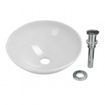 <PRE>White Tempered Glass Vessel Sink with Drain, Single Layer Round Bowl Sink </PRE>zoom1