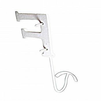 Letter Hook F Wrought Iron White Decorative Hooks Decorative Hook Coat Hook