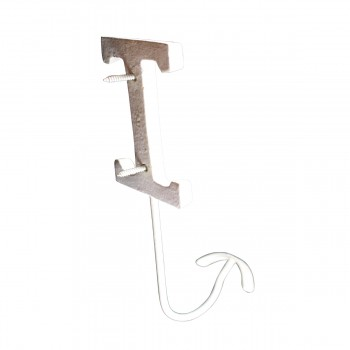<PRE>Letter Hook I Wrought Iron White Decorative </PRE>zoom6