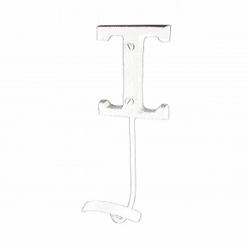 Letter Hook I Wrought Iron White Decorative 16098grid
