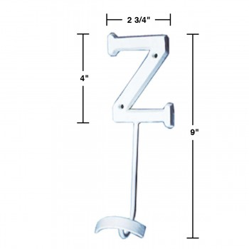 spec-<PRE>Letter Hook Z Wrought Iron White Decorative </PRE>