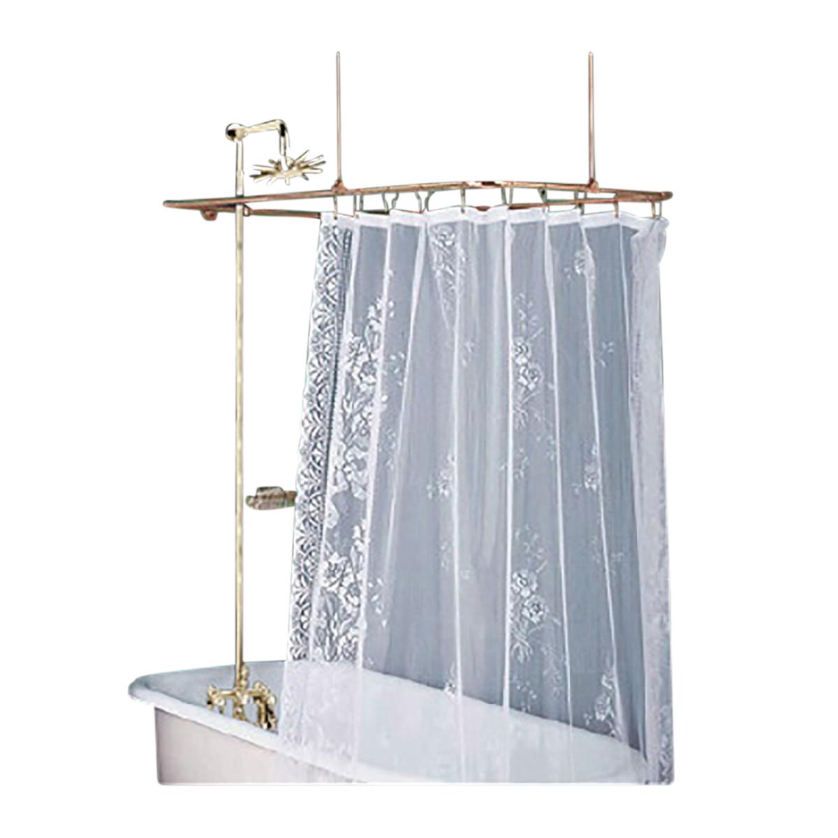 Rectangular Shower Surround Clawfoot Tub Wall Mount Faucet