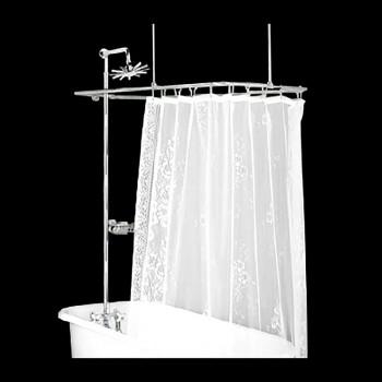 <PRE>Shower Surround Chrome Rect Cross Handle Faucet Deck Mount</PRE>